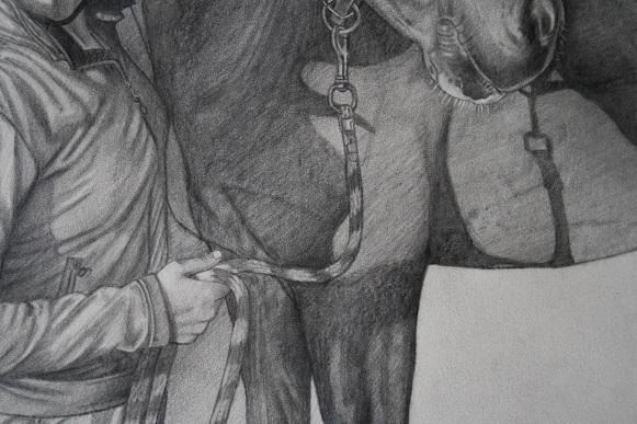 prominente drent Sdelinde cornelissen, potloodtekening