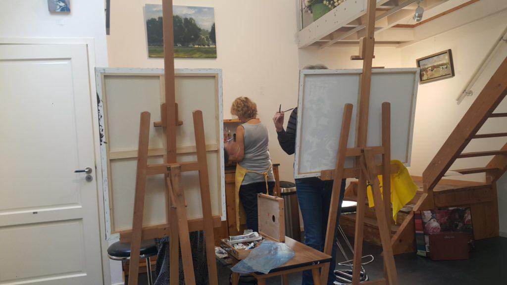 schilderlessen in galerie van der veen- kerssies HIJKEN #SCHILDERLESDRENTHE